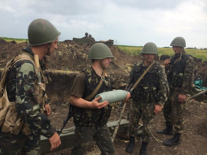 Украинская артиллерия на Донбассе, иллюстрация