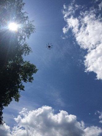 Беспилотник в небе Донбасса, иллюстрация