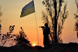 Украинский солдат в зоне АТО