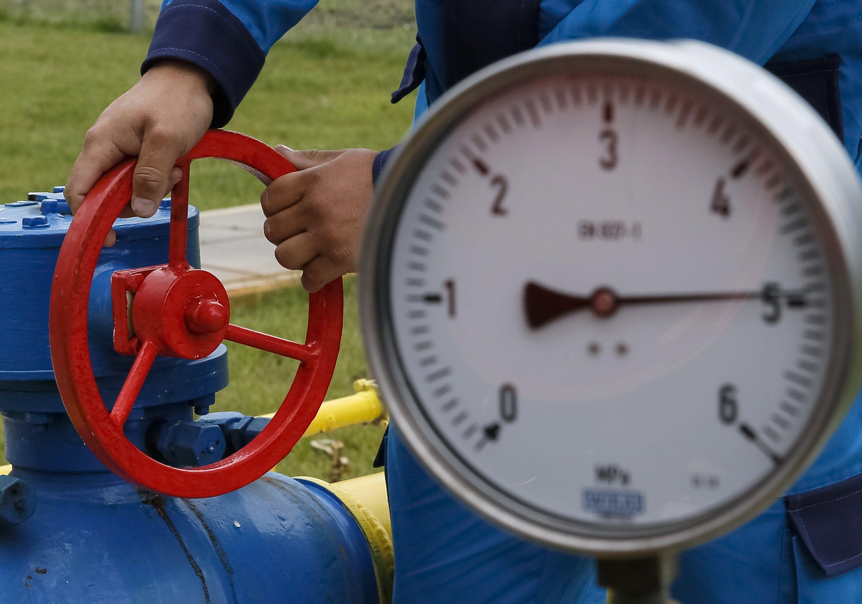 Газовая труба и счетчик