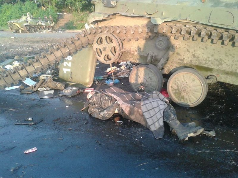 Под Славянском разгромили колонну террористов