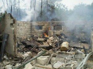 Разрушенные дома на Донбассе, иллюстрация