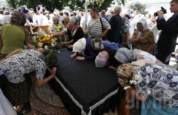 Похороны митрополита Владимира. Литургия