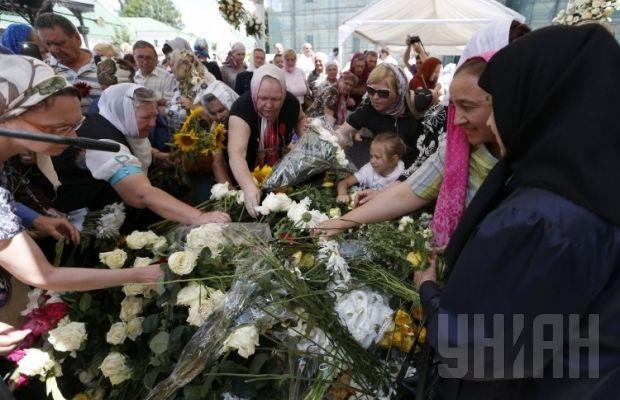 Похороны митрополита Владимира. Верующие