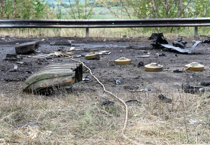 Мины террористов на Донбассе. Иллюстрация