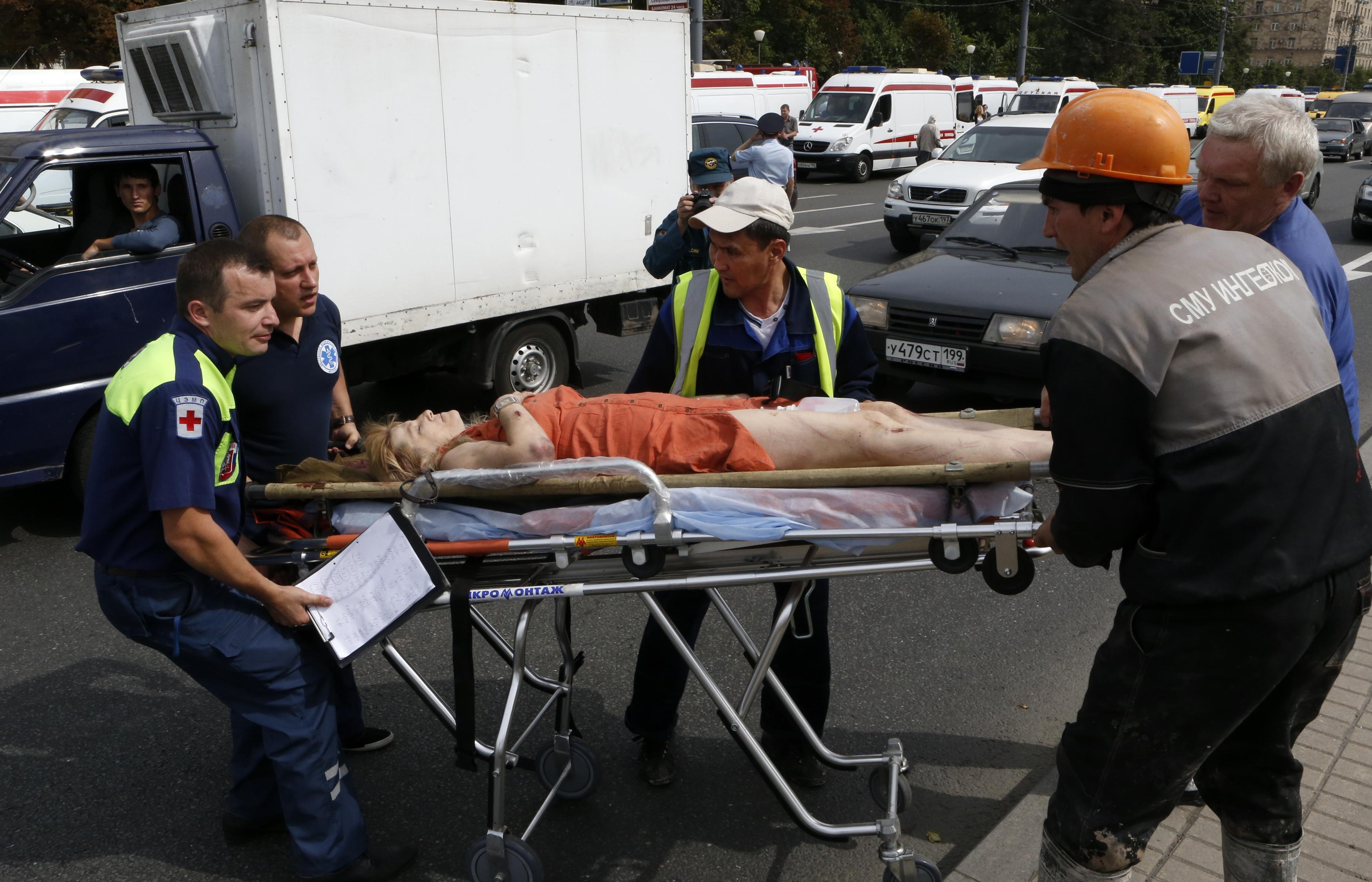 Пострадавшая в результате аварии в метро, иллюстрация