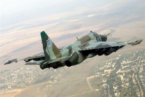 На Хмельнитчине загорелся штурмовик Су-25