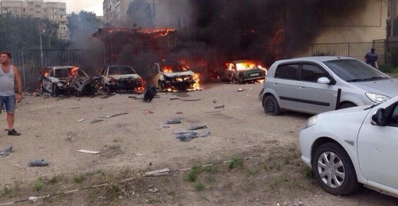 Обстрел в Луганске