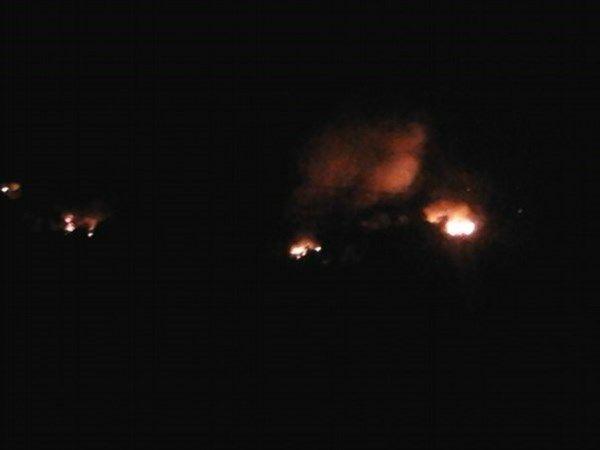 Пожар в Горловке
