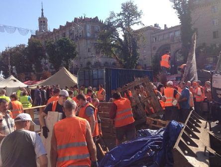 Коммунальщики на Майдане
