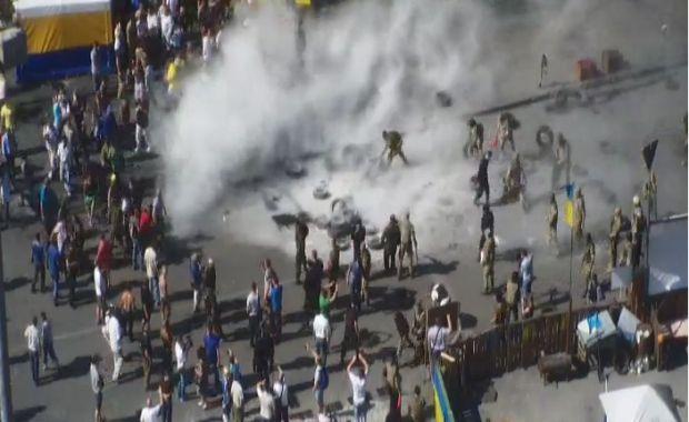 На Майдане горят шины