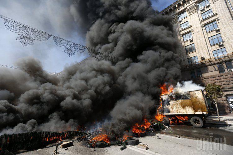 На Майдане снова было неспокойно