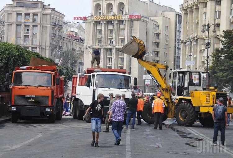 Субботник в центре Киева