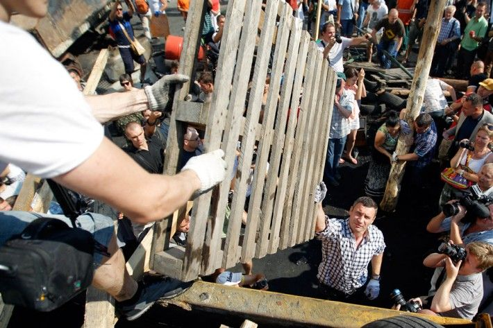 Виталий Кличко на уборке Киева
