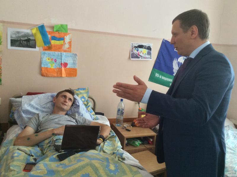 Сергей Шахов в госпитале