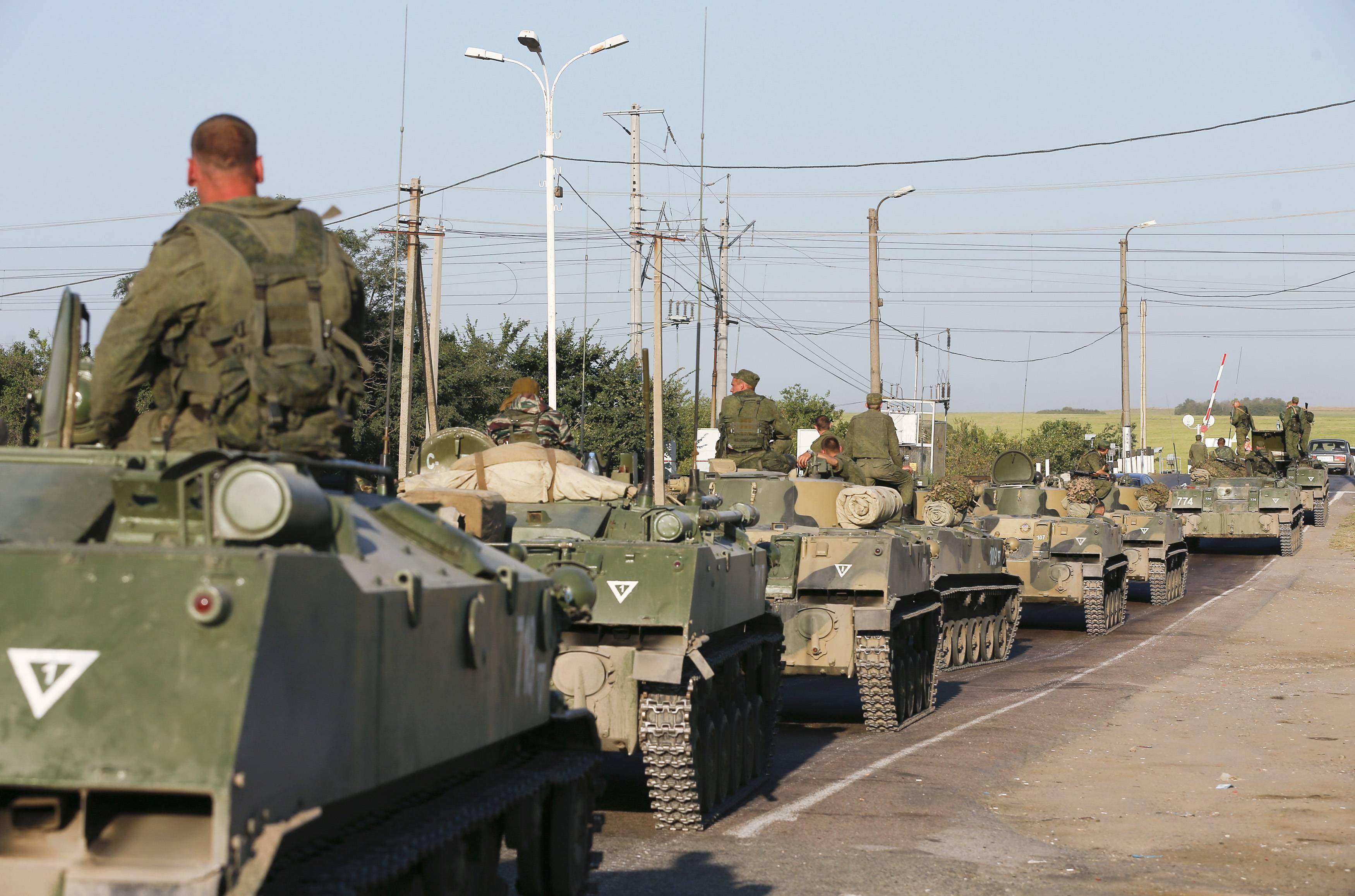 Российская техника возле границ Украины, иллюстрация