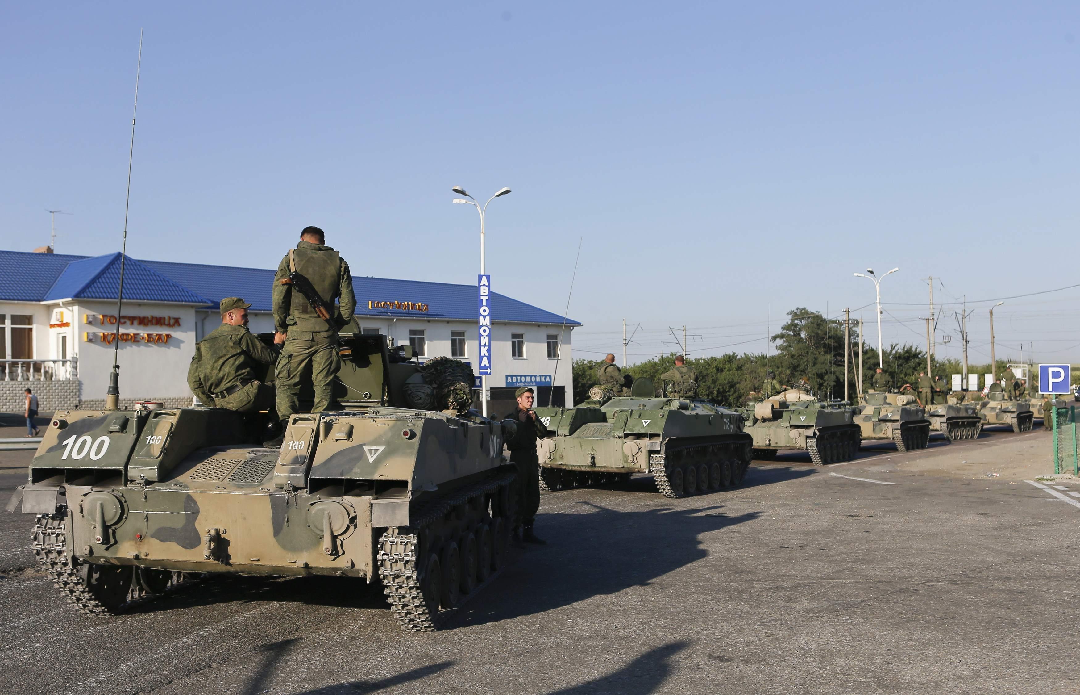 Российская военная техника возле границ Украины, иллюстрация