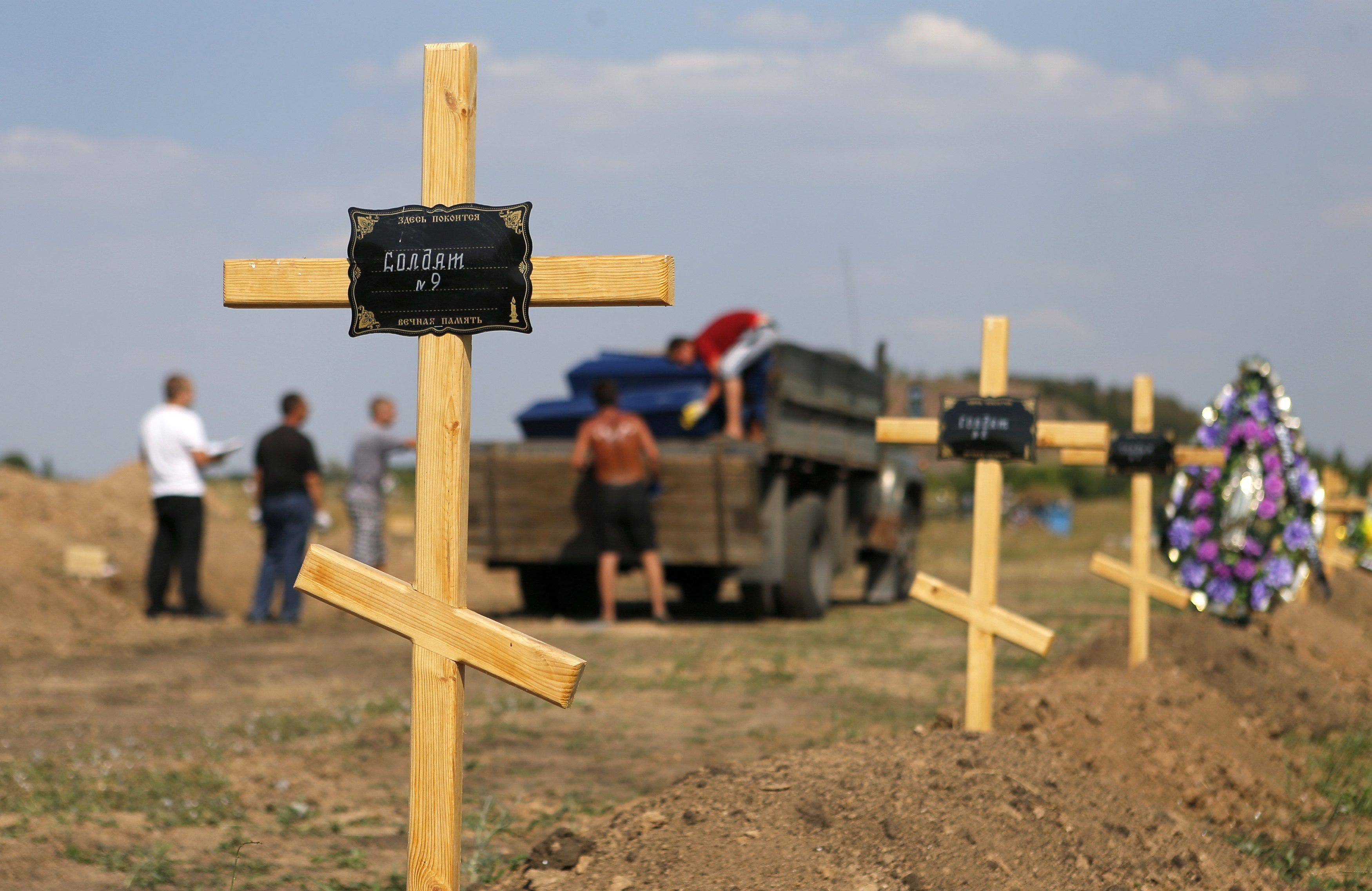 Могилы боевиков на Донбассе, иллюстрация