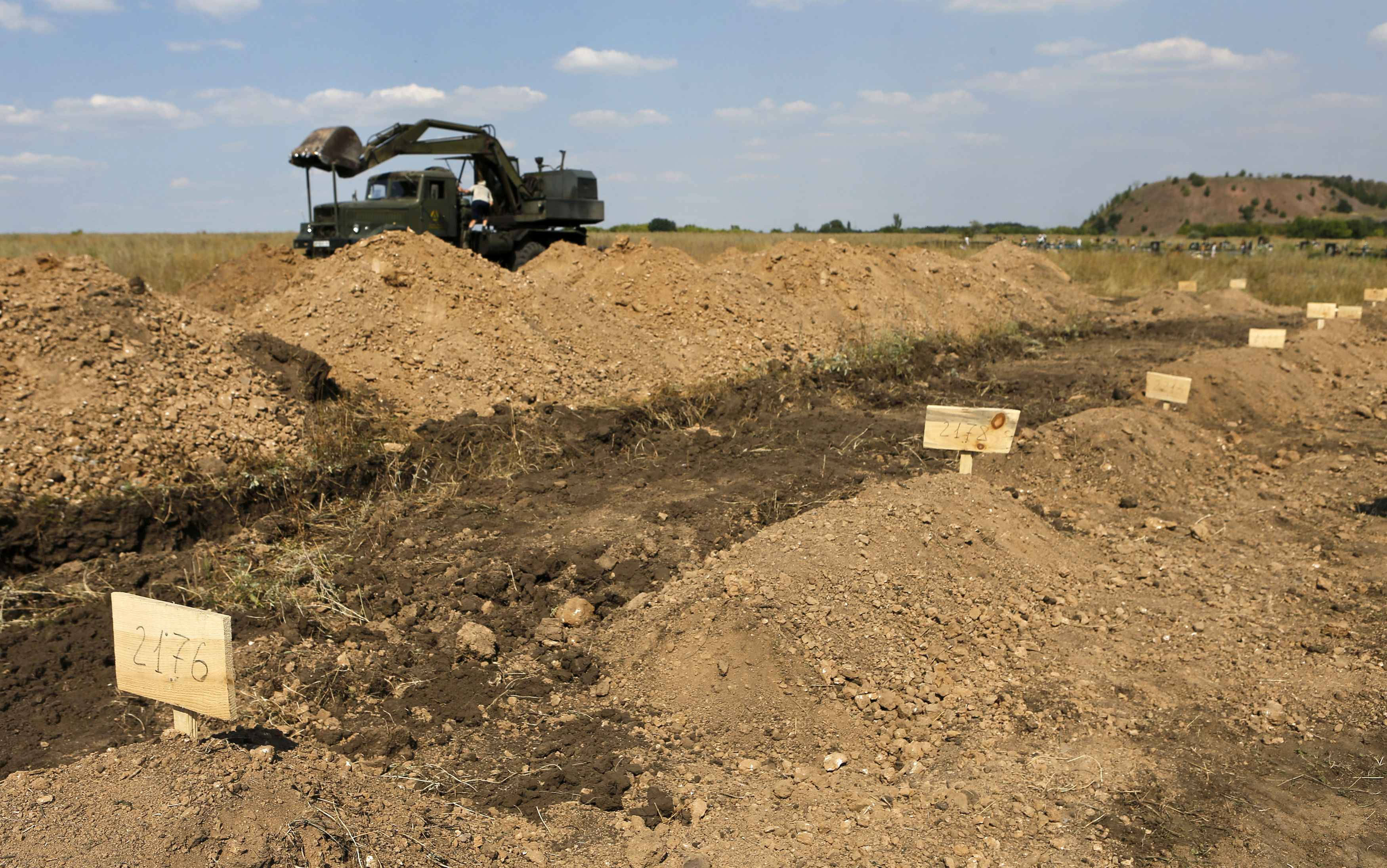 Безымянные могилы на Донбассе