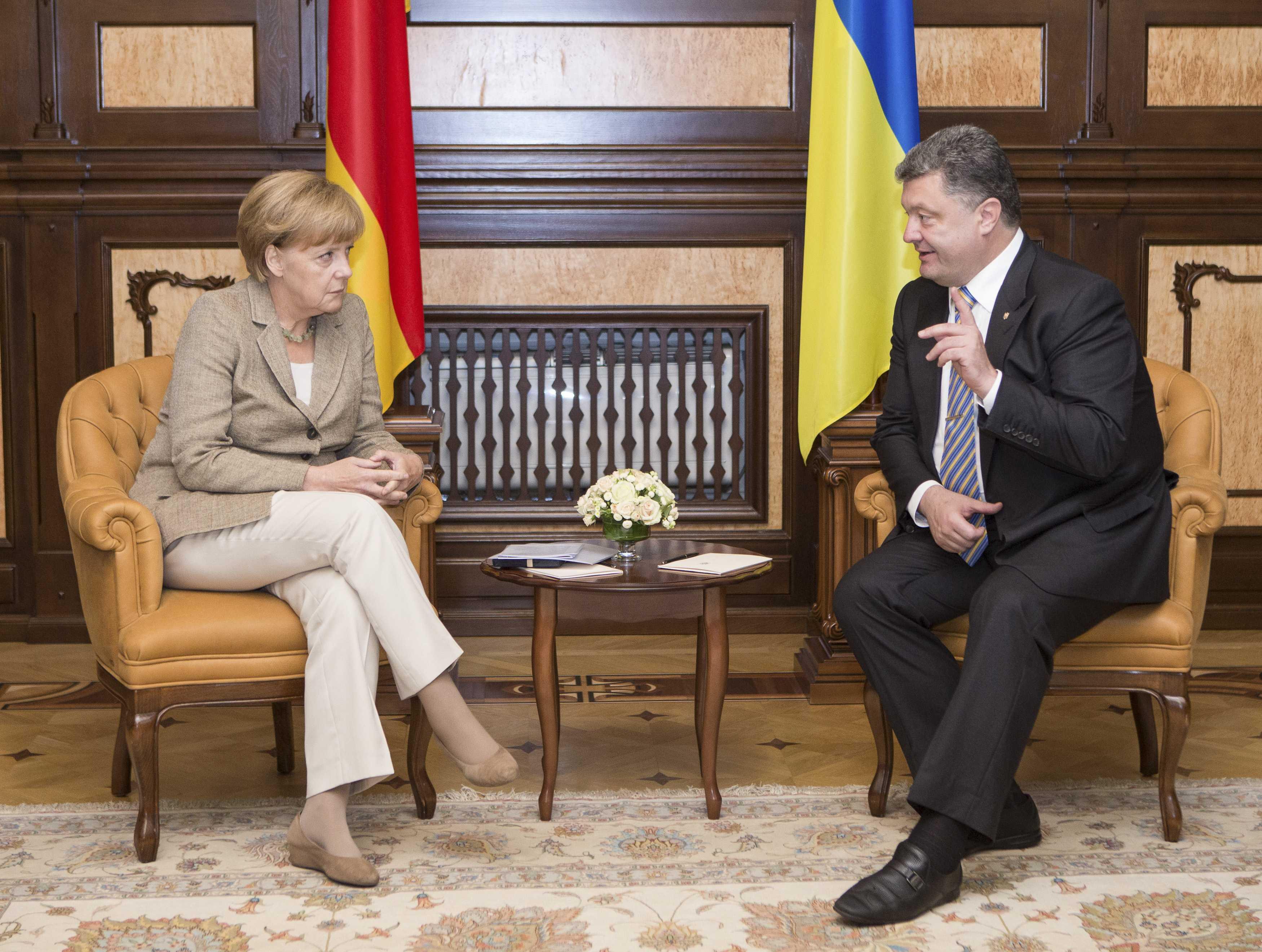 Переговоры Порошенко и Меркель в Киеве