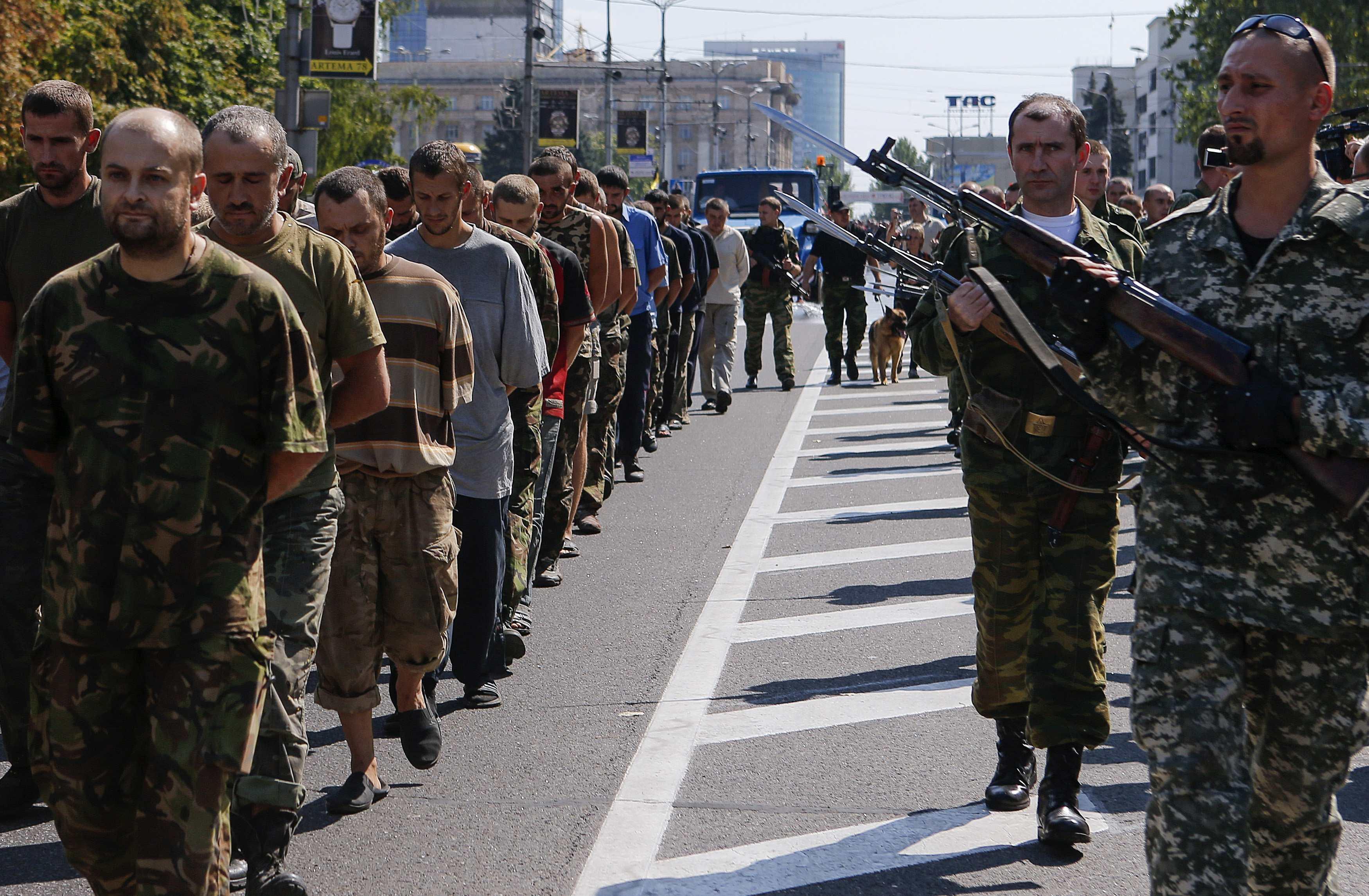 Украинские заложники в Донецке