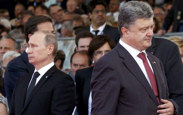 Петр Порошенко и Владимир Путин.