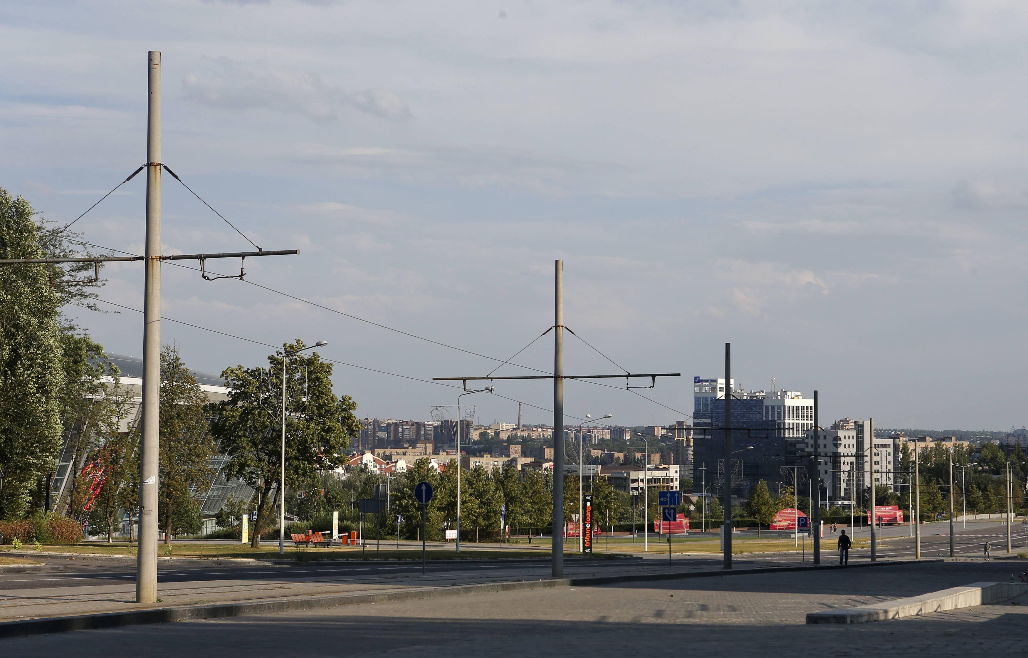 Одна из улиц Донецка