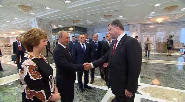 Порошенко и Путин в Минске