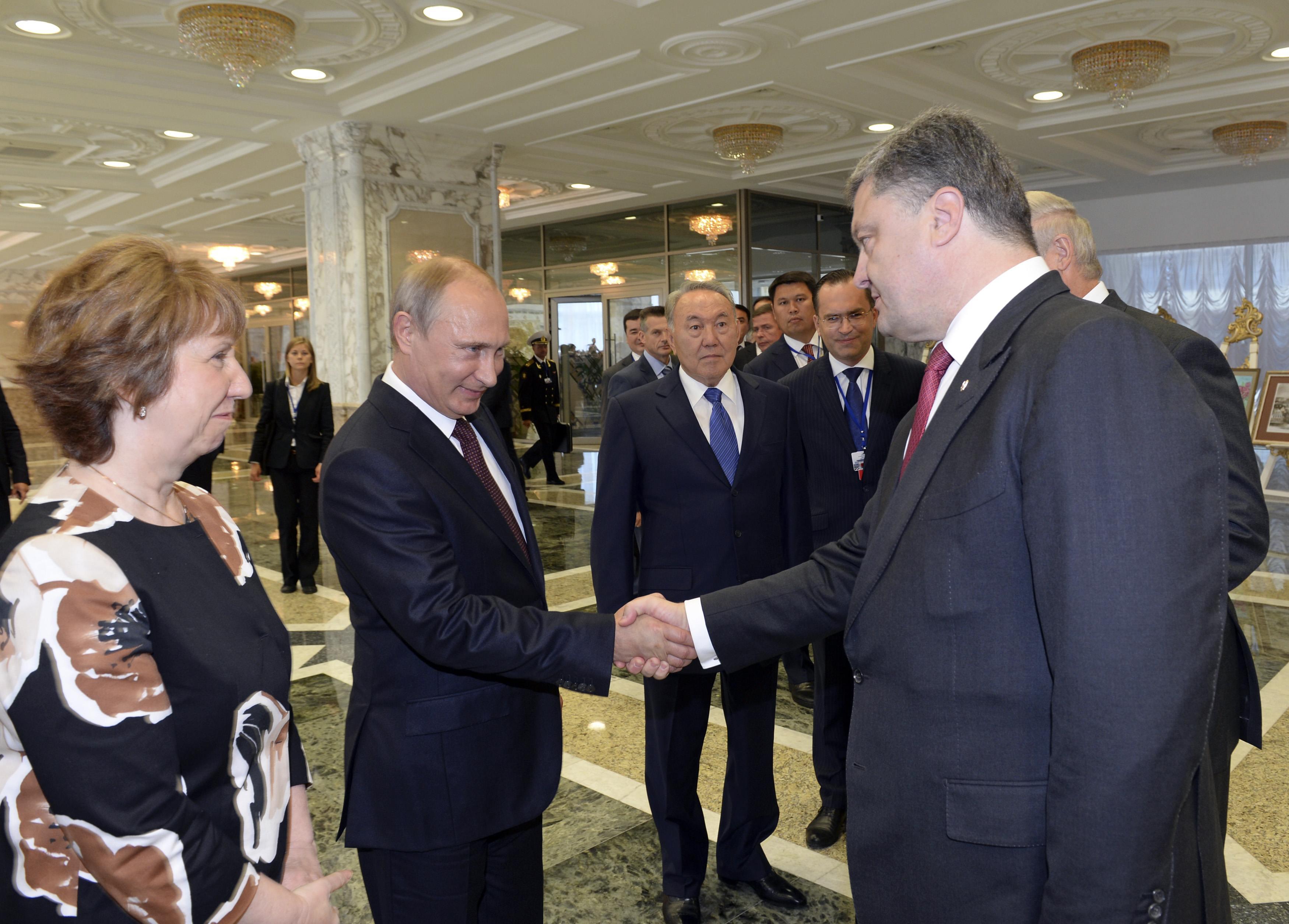 Путин и Порошенко в Минске, иллюстрация