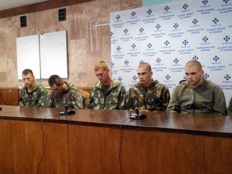 Пленные российские солдаты