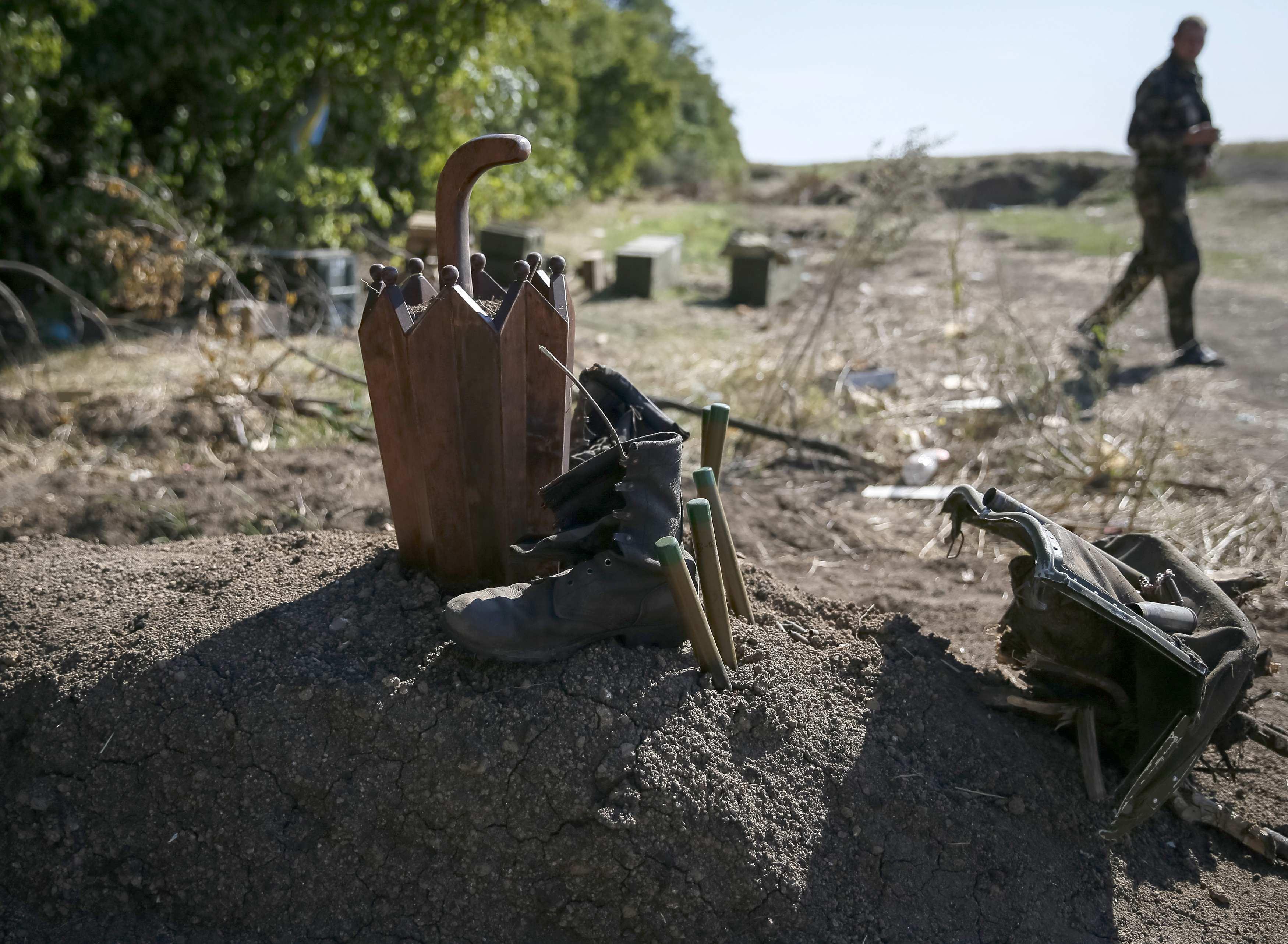 Безымянная могила на Донбассе
