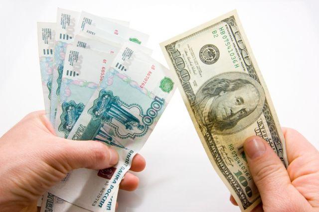 Доллары и рубли, иллюстрация