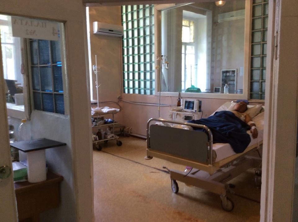 Боец из зоны АТО в госпитале Днепропетровска, иллюстрация