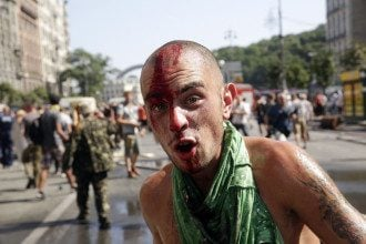 Драка на Майдане