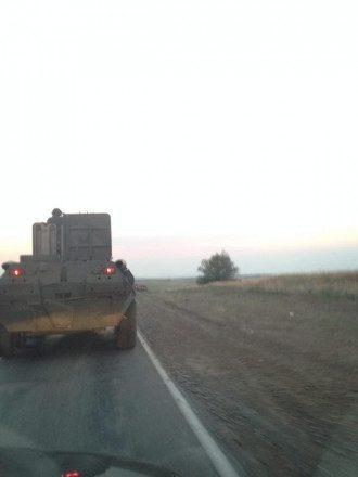Российский БТР возле границы Украины