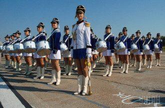 В военном параде будут участвовать барабанщицы