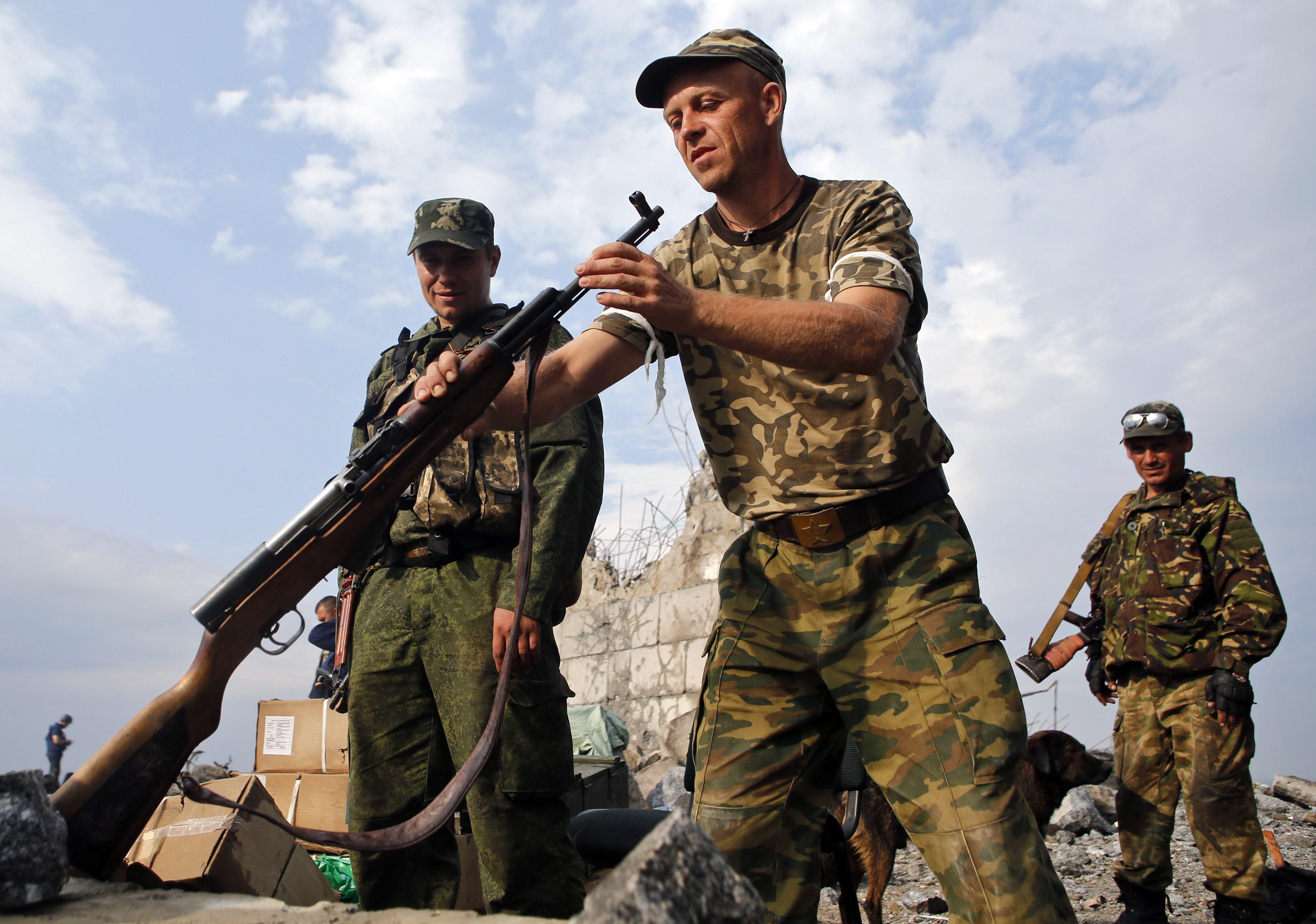 Подготовка боевиков в Донецке