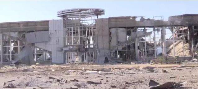 Развалины Луганского аэропорта