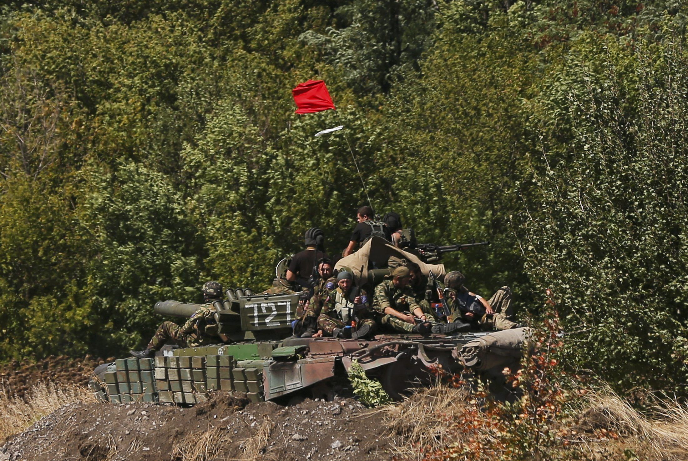 Террорист на танке, иллюстрация