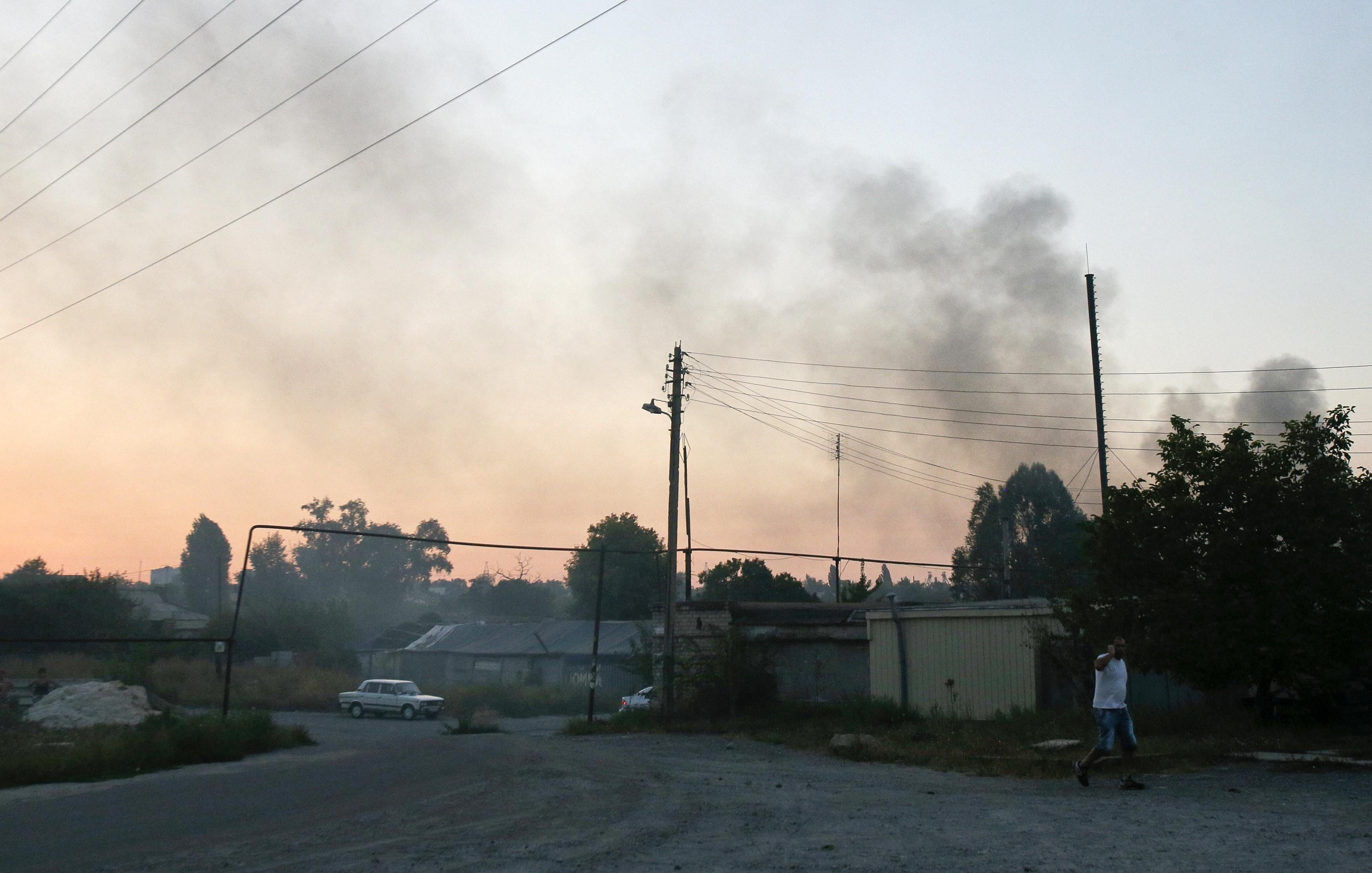 Дым над Донецком