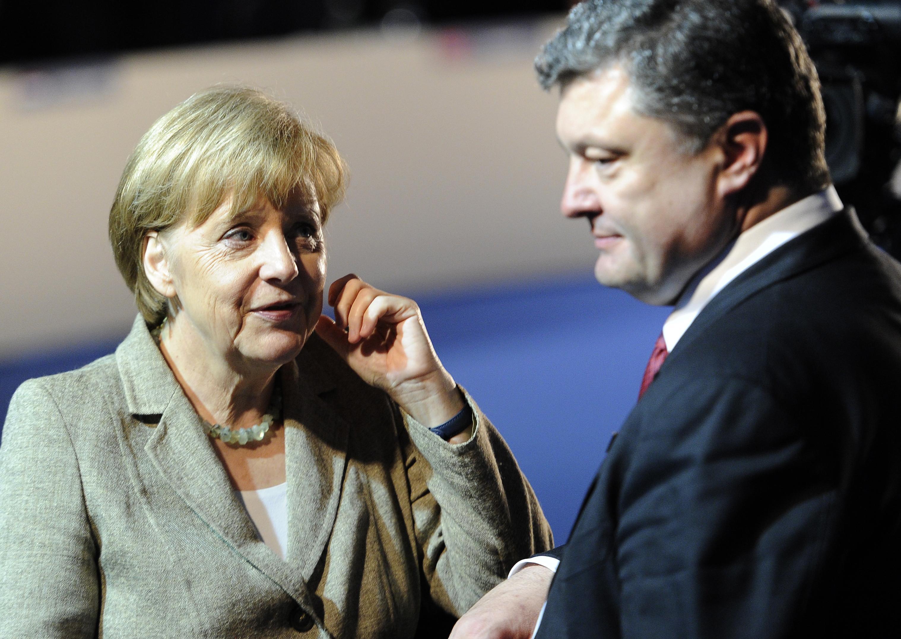 Петр Порошенко и Ангела Меркель.
