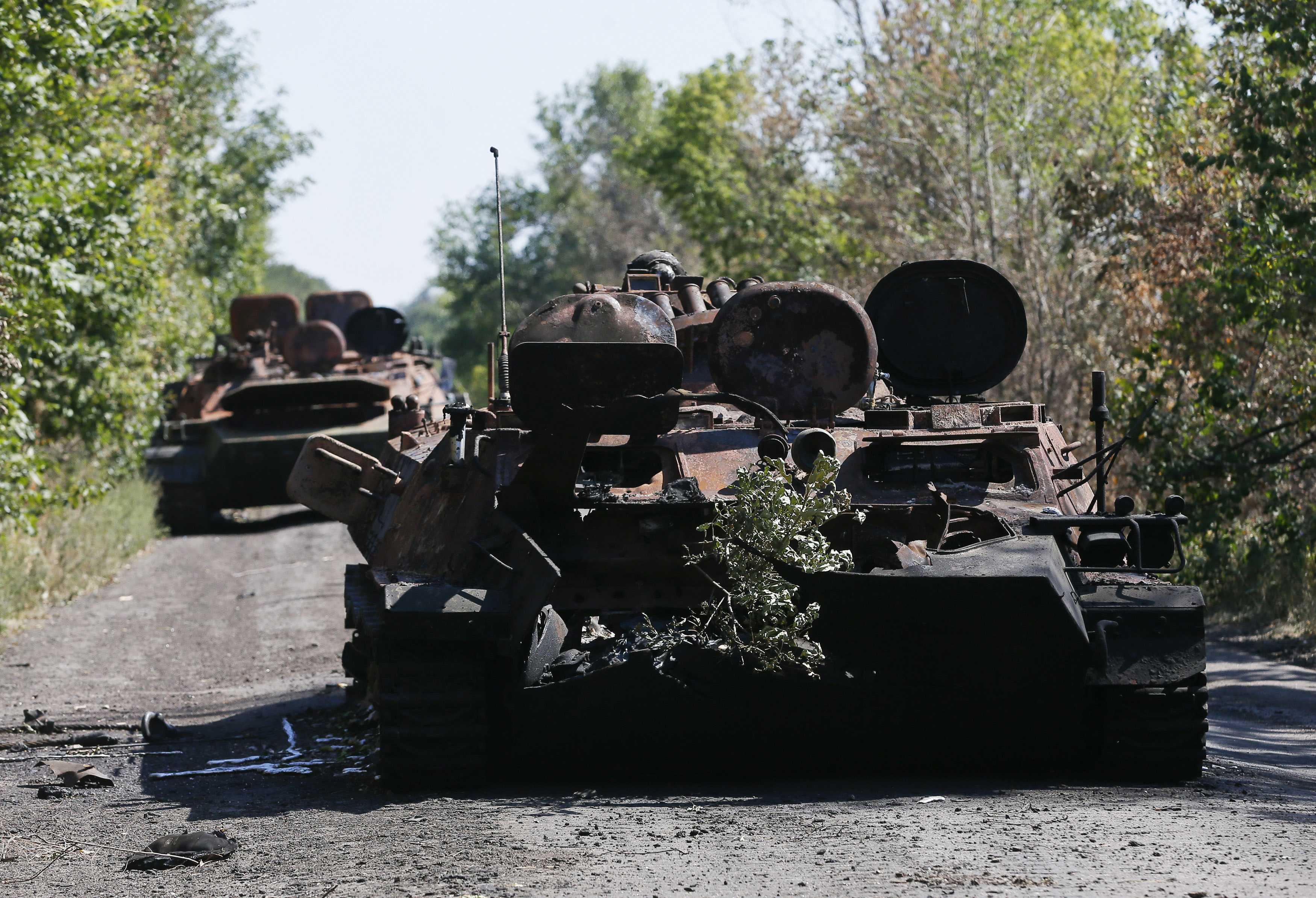 Россияне растреливали украинские колонный прямой наводкой