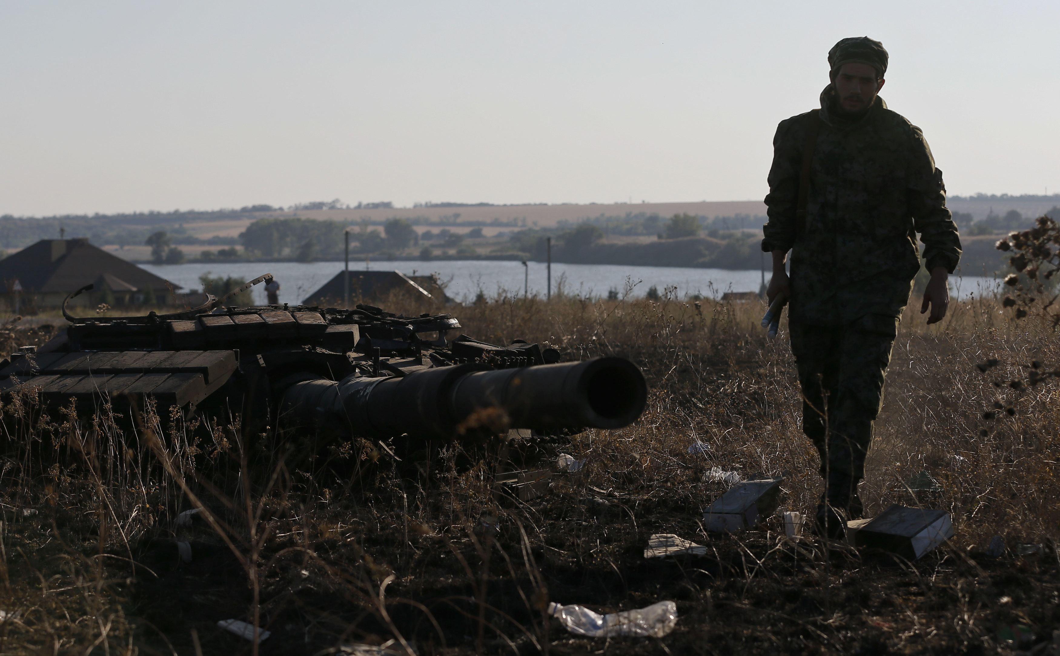 Боевики под Иловайском, иллюстрация