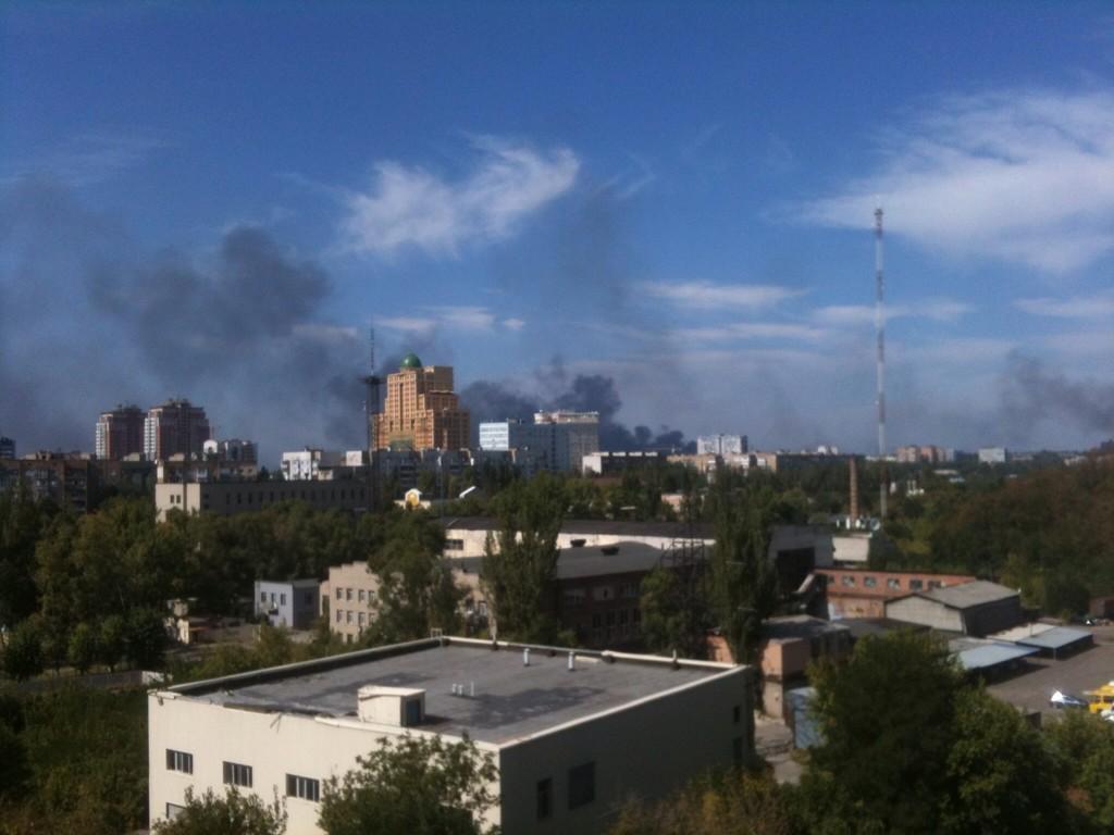 Обстрел аэропорта в Донецке