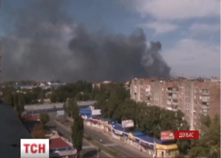 В Донецке не прекращаются обстрелы
