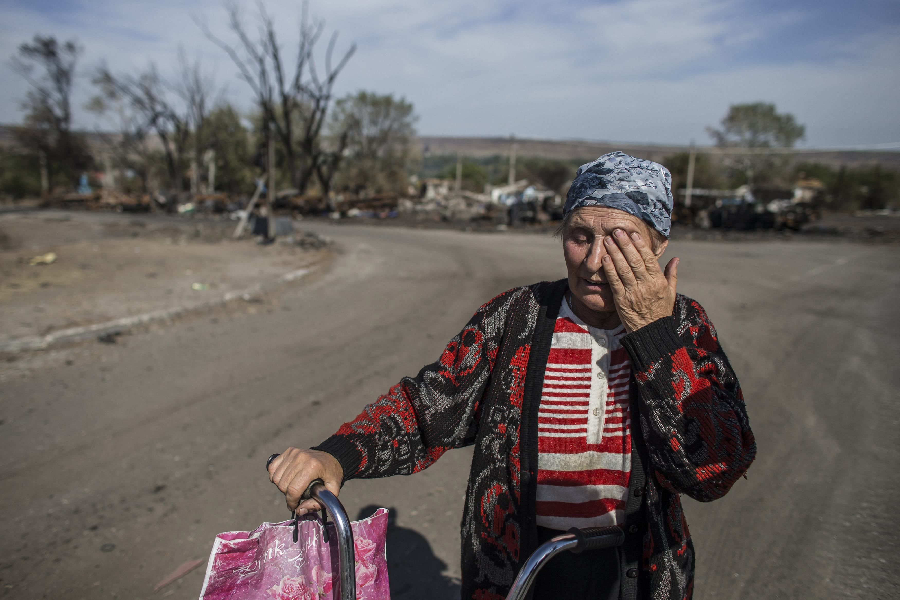Мирная жительница из-под Луганска
