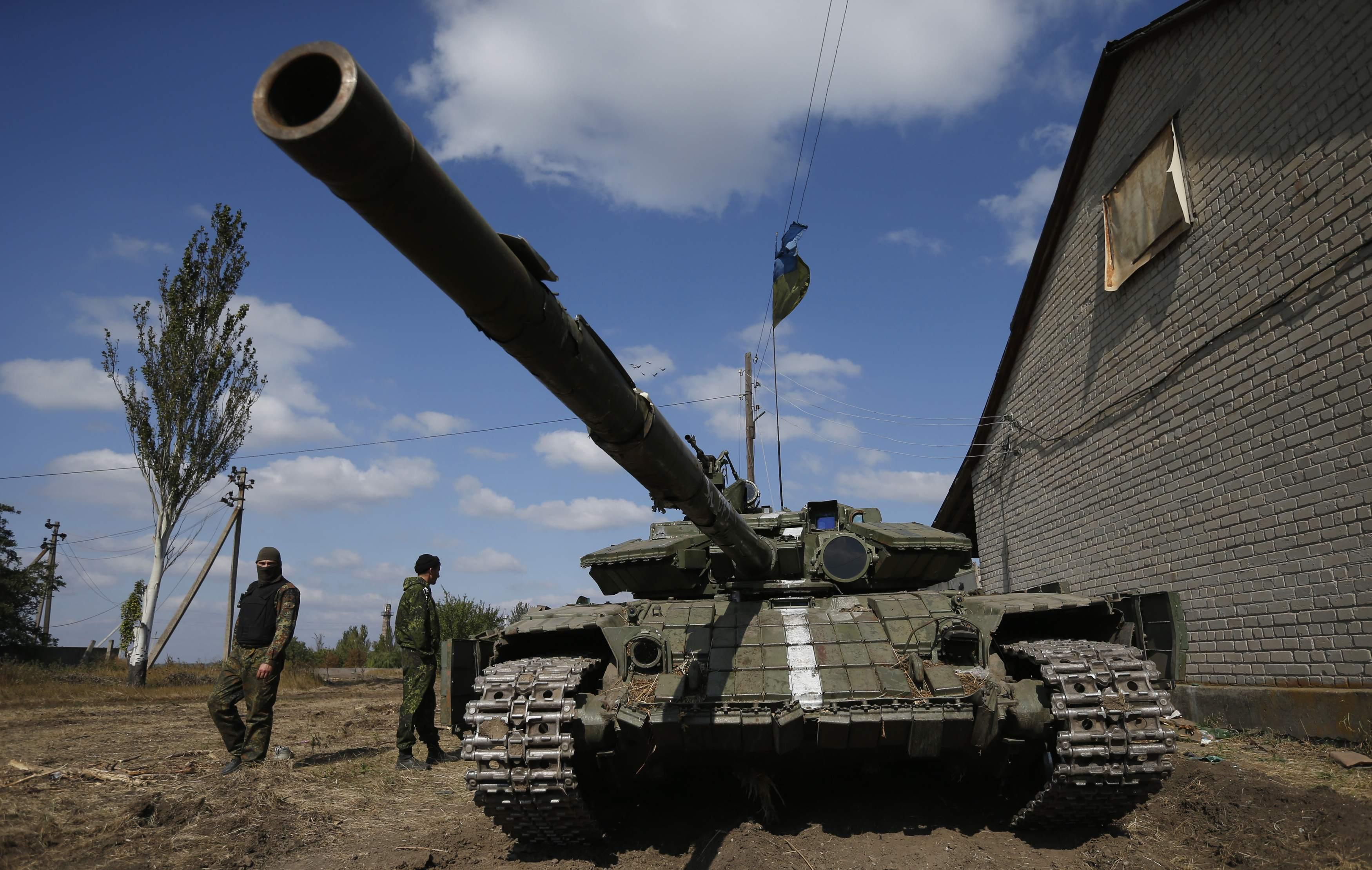 Украинская бронетехника на Донбассе