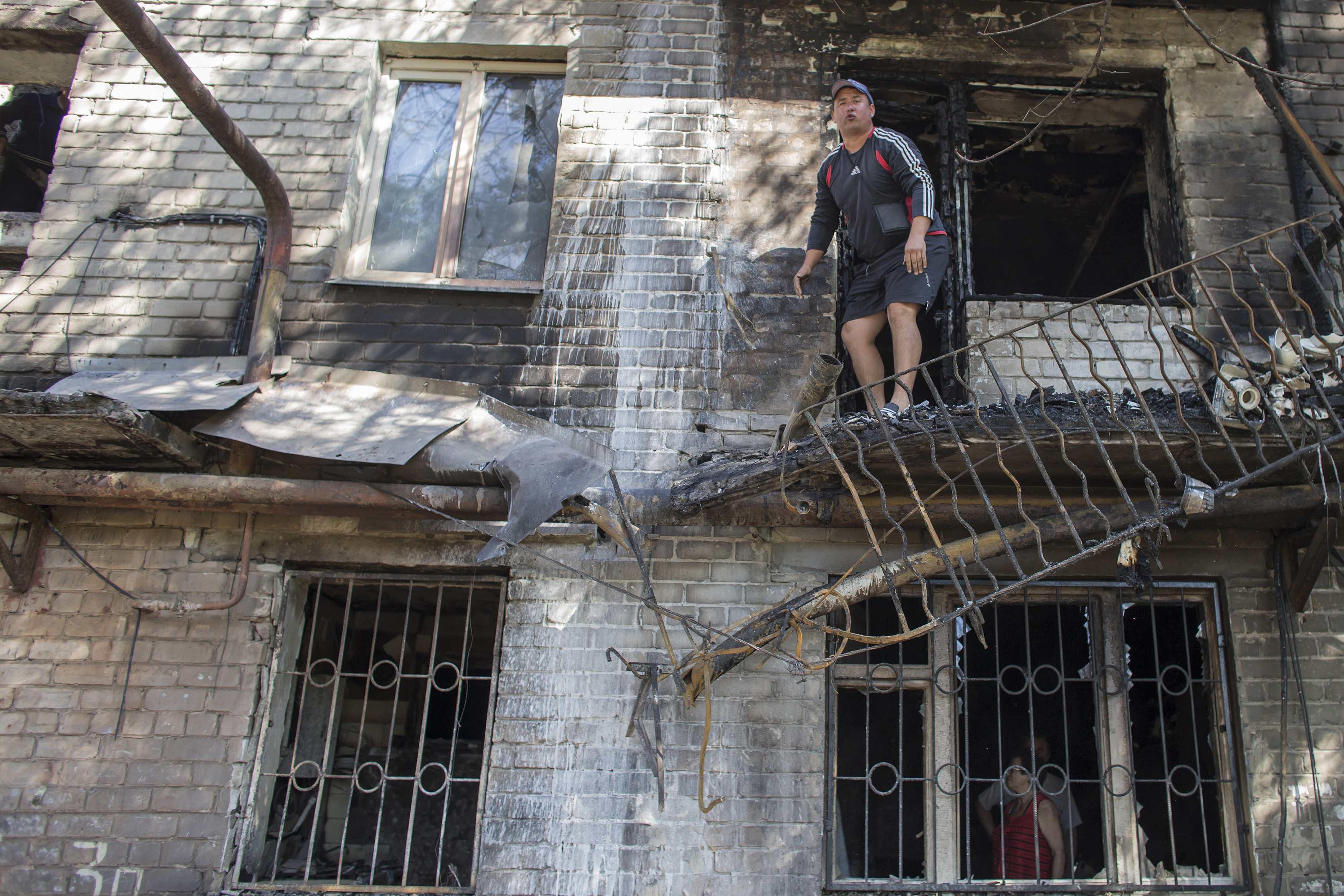 Результаты обстрелов в Донецке. Иллюстрация