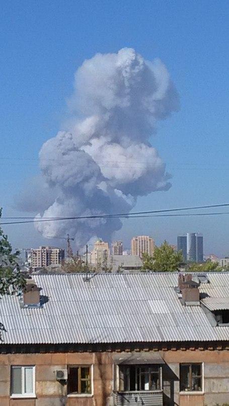 Фото момента взрыва