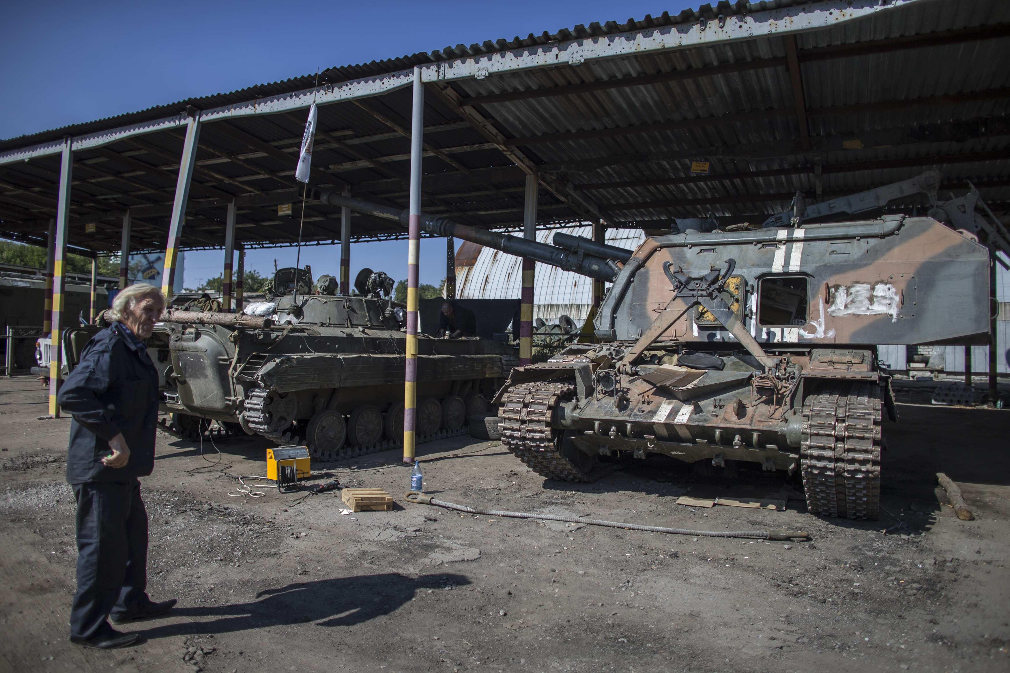Рембаза боевиков в Донецке